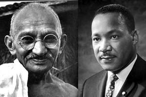 Mahatma Gandhi and Martin Luther King Jr.
