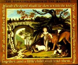 Edward Hicks' rendition of Isaiah 11:6